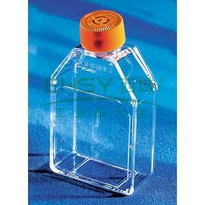 培养瓶,75cm²,直角斜颈(正方斜口),密封盖,PS材质,灭菌,大包装,5个/包