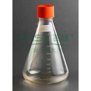 三角培养瓶,1000ml,43mm颈瓶,密封盖盖,PC材质,灭菌,独立包装,1个/包