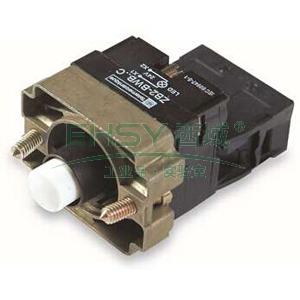 施耐德 XB2 带灯按钮基座(24VDC),ZB2BWB11C