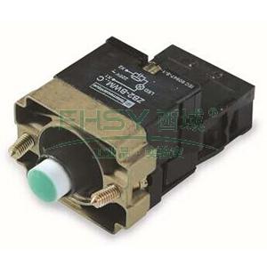 施耐德 XB2 带灯按钮基座(220VAC),ZB2BWM31C