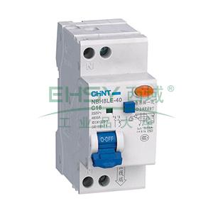 正泰 微型漏电保护断路器,NBH8LE-40 1P+N C40A 30mA