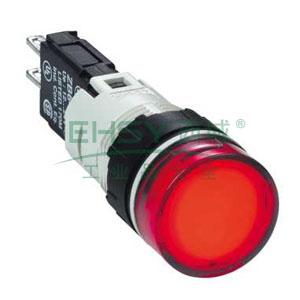 施耐德 圆形红色 (LED12~24V) 16mm指示灯,XB6AV4BB