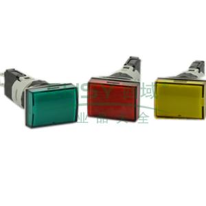 施耐德 指示灯,XB6EDV3BF 长方形 绿色 带24V LED