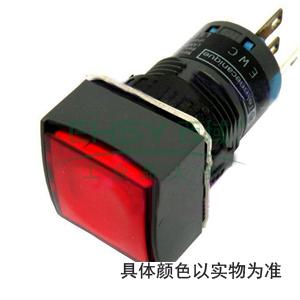 施耐德 方形黄色 (LED12~24V) 16mm指示灯,XB6CV5BB
