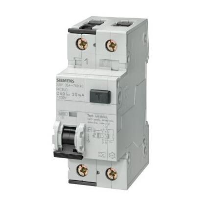 西门子 AC型微型漏电断路器,5SU9 AC 30mA 1P+N C6 6KA,5SU93561KK06
