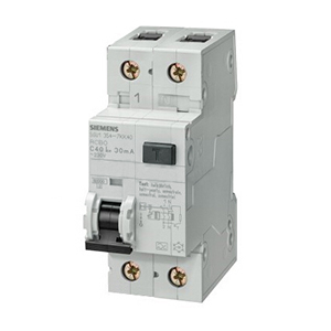 西门子 AC型微型漏电断路器,5SU9 AC 30mA 1P+N C40 6KA,5SU93561KK40