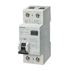 西门子 AC型带过电压保护微型漏电断路器,5SU9 AC 30mA 1P+N C40 6KA,5SU93561KN40