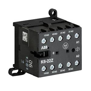 ABB 四极交流线圈中间继电器,K6-22Z*220-240V/40-450HZ