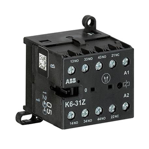 ABB 四极交流线圈中间继电器,K6-31Z-80