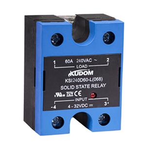 库顿 单相面板安装交流固态继电器,KSI240D100-L 100A 48-280VAC 4-32VDC控制