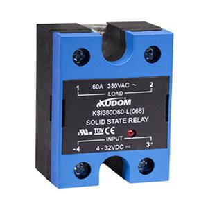 库顿 单相面板安装交流固态继电器,KSI380D100-L 100A 48-440VAC 4-32VDC控制