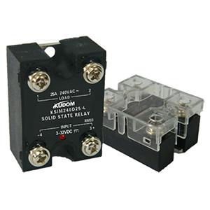 库顿 单相面板安装固态继电器,KSIM380D25-L 25A 48-440VAC 4-32VDC控制