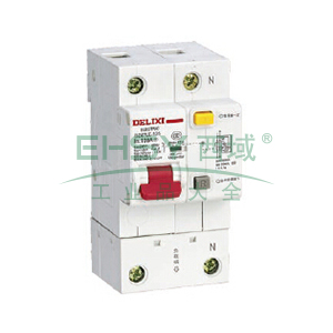 德力西 微型漏电保护断路器,DZ47LE-125 1P+N C80A,DZ47LE1251C80