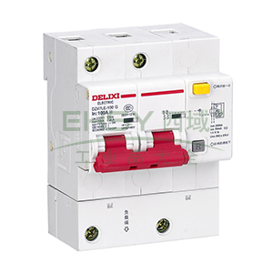德力西 微型漏电保护断路器,DZ47LE-125 2P D80A 75mA,DZ47LE1252D80R75