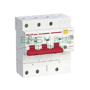 德力西 微型漏电保护断路器,DZ47LE-125 3P D80A 75mA,DZ47LE1253D80R75