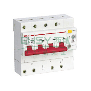 德力西 微型漏电保护断路器,DZ47LE-125 4P C80A,DZ47LE1254C80