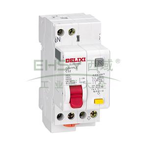 德力西DELIXI 微型剩余电流保护断路器 DZ47PLE 1P+N 6A C型 30mA AC DZ47PLEC6G 带过压