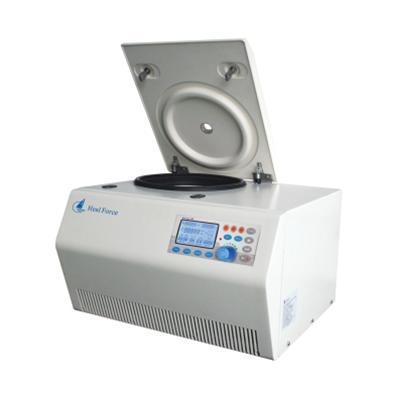 HealForce离心机,最高转速:18000r/min,最大离心力:31315g,最大容量4×210ml;-10℃~+40℃