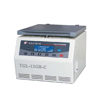 TGL-12GB-C高速台式离心机,最高转速:12000转/分,含角转子(1.5/2mI×24,0.5mI×48),安亭