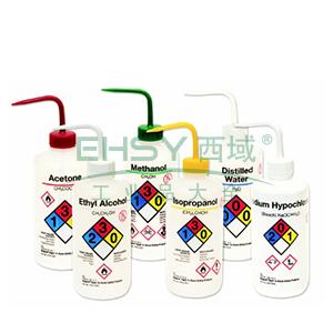 易认安全洗瓶,LDPE,白色LDPE或PPCO瓶体,500ml容量,普通酒精,白色瓶盖