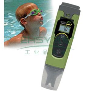 防水型pH/ORP测试笔,无ATC,精度为±0.1;pH:1点校正