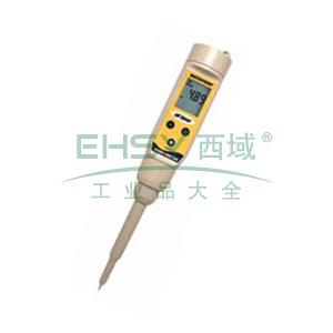 防水型pHSpear测试笔,带MTC,双盐桥刺入式电极,精度±0.01PH