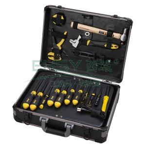 """史丹利工具箱,铝合金材质17""""(图片只最作为展示使用,实物中不包含工具和工具托),95-282-23"""