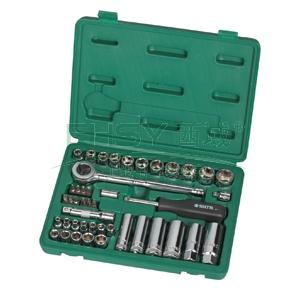 世达公制套筒组套,6.3mm、10mm系列44件套,09527
