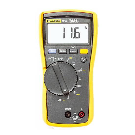 万用表,福禄克 温度及微安电流测量hvac数字万用表,fluke-116c