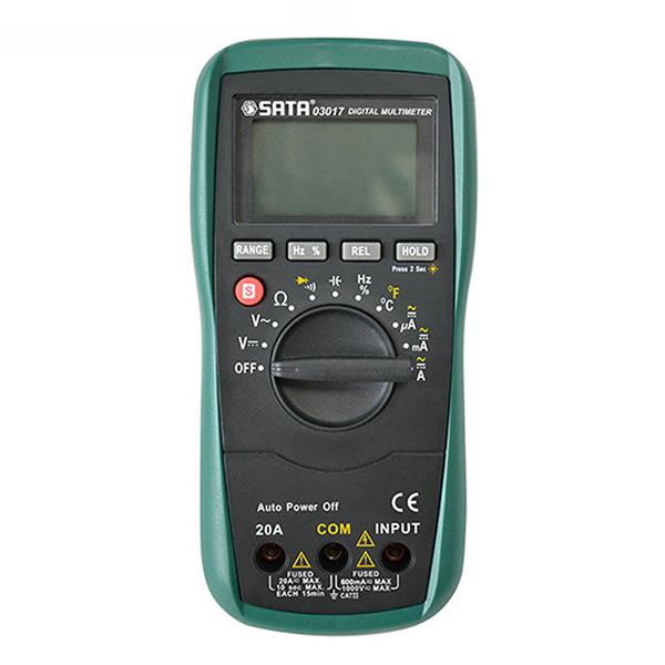 万用表,世达 带温度测量数字万用表,03017