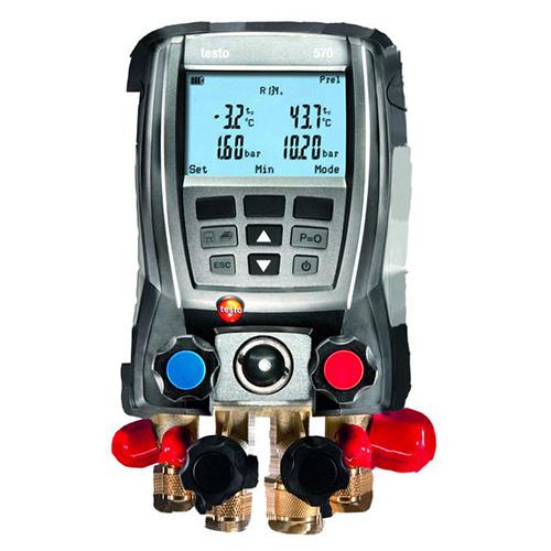 德图/Testo testo 570-1套装电子歧管仪,内置40种制冷剂特性参数,