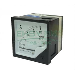 正泰CHINT 模拟交流电流表,100A 次级电流:5A 表盘尺寸:80mm,6L2-A 100/5A