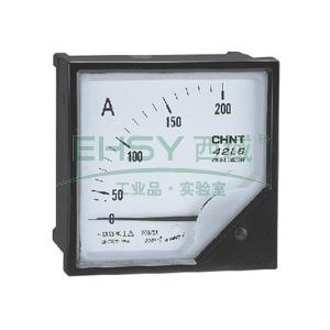 正泰CHINT 42L6-A矩形交流电流表,200A 次级电流:5A 表盘尺寸:120mm,42L6-A 200/5A