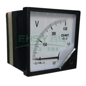 正泰CHINT 6L2-V 指针式电压表,6L2-V 500V 直通