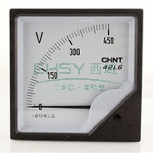正泰CHINT 交流电压表,500V 直接接入 表盘尺寸:120mm,42L6-V 500V