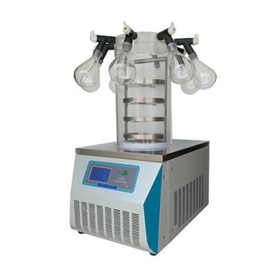 冷冻干燥机,多歧管普通型台式,LGJ-10,-56℃,四层托盘,冻干面积0.12m2、真空度≤5pa