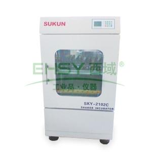 恒温培养振荡器,单层双门小容量,SKY-2102C,温控范围:4-60℃,工作室尺寸:600x440x650mm