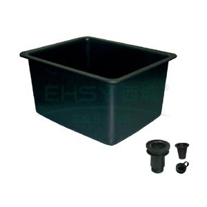 水槽,PP,大型,内径:485x380x300mm,黑色
