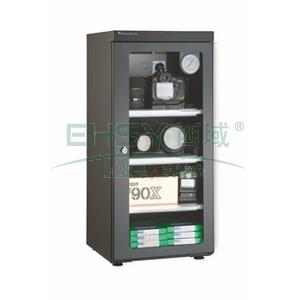 万得福防潮柜,经典系列,AD-060C,控湿范围:30%-60%RH,黑色,除湿容积:64L,推拉托盘:3个