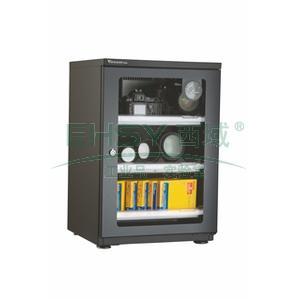 万得福防潮柜,经典系列,AD-088C,控湿范围:30%-60%RH,黑色,除湿容积:70L,推拉托盘:3个