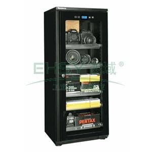 防潮柜,万得福,经典数显系列,DD-129CH,控湿范围:20%-50%RH,黑色,数显数控,除湿容积:123L,推拉托盘:5个