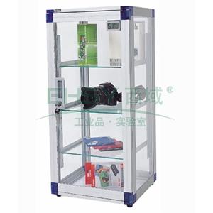 防潮柜,万得福,透明树脂系列,ALD-100S,控湿范围:20%-55%RH,除湿容积:120L,不锈钢层板:3个