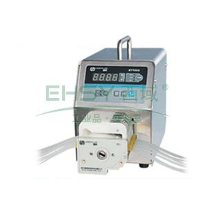 基本调速型蠕动泵,BT100S(不锈钢304机箱)泵头DG6-8(6滚轮),单通道流量(毫升/分钟)0.00016~49,通道数量8