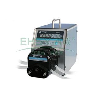 基本调速型蠕动泵,BT100S(不锈钢304机箱)泵头2×YZ15,单通道流量(毫升/分钟)0.006~575,通道数量2