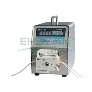 基本调速型蠕动泵,BT100S(不锈钢304机箱)泵头DT15-26,单通道流量(毫升/分钟)0.05~400,通道数量2