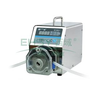基本调速型蠕动泵,BT100S-1泵头YZ15,单通道流量(毫升/分钟)0.006~575,通道数量1
