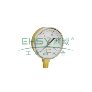 """捷銳壓力表 G25B-0.25MA,2.5""""銅殼,0.25MPa,乙炔專用"""