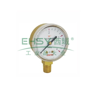 捷锐减压器用压力表,G20B-2.5M,铜壳