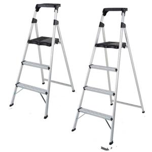 带放物台扶手人字梯,  踏台高:0.86m 框高:0.47m 层数:3层 重量:4.4kg