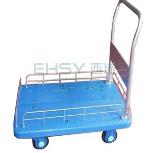 连和 超静音单扶手单层带护栏手推车,静音轮 300kg,PLA300-HL1